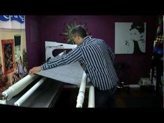 Beginner Longarm Quilting Videos, Classes & Lessons Online - pitty it is not to the end Machine Quilting Tutorial, Long Arm Quilting Machine, Machine Quilting Designs, Quilting Tutorials, Quilting Patterns, Quilting Frames, Quilting Stencils, Longarm Quilting, Quilting Room