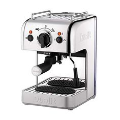 Dualit 3-in-1 Coffee Machine | Polished Stainless Steel | 1.5 L Capacity | Multi-Brew Versatility | Patented Pure Pour… MULTI-BREW VERSATILITY: Dualit's 3 in 1... Cappuccino Maker, Espresso Coffee Machine, Espresso Maker, Coffee Maker, Cheap Coffee Machines, Drip Tray, Cool Cafe, Coffee Pods, Cafes