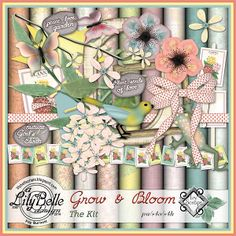 GROW and BLOOM - Download this minikit for FREE when you participate in the Calendar Challenge at Ivy Scraps from May 1 to May 31, 2014.