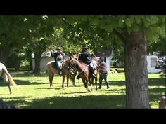 Civil War reenactment in Prairie du Rocher