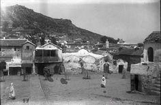 FOTOGRAFIA DE CRISTAL NEGATIVO DE XAUEN, CHEFCHAUEN O CHAUEN (MARRUECOS) GUERRA DEL RIF 1912 APROXIM - Foto 1