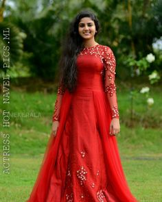 Whatsapp on 9496803123 to customise your dream wedding wear. Long Dress Design, Dress Neck Designs, Designer Anarkali Dresses, Designer Dresses, Designer Kurtis, Designer Wear, Indian Gowns Dresses, Girls Dresses, Frocks For Teenager