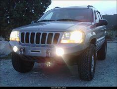 Custom Fiberglass WJ Winch bumper.