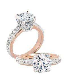 Jack Kelege engagement ring in platinum and rose gold with round stone I Style: LPR 698 I https://www.theknot.com/fashion/lpr-698-jack-kelege-engagement-ring?utm_source=pinterest.com&utm_medium=social&utm_content=june2016&utm_campaign=beauty-fashion&utm_simplereach=?sr_share=pinterest
