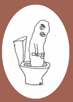 Toilet humour humor.  Funny poems and pictures.  Bowel Trouble