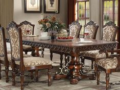 The Wycliff Collection Extendable Dining Table with the very special design wrought metal iron decors. brings you a stylish design in your dining room. The combination of pattern wood design shows the most delicate style of your dining room. Dining Table With Leaf, Dining Room Table Decor, Dining Room Sets, Dining Chair Set, Wardrobe Design Bedroom, Acme Furniture, Table Height, Iron Decor, High Quality Furniture
