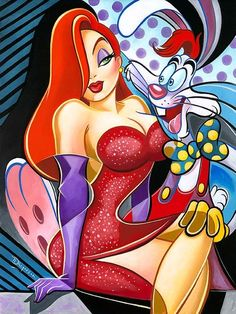 *JESSICA & ROGER RABBIT ~ The Magical World Of Disney
