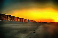 Sunset. Knokke Heist, Belgium.