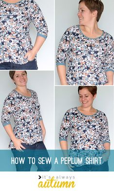 learn to #sew a trendy #peplum top with this easy to follow tutorial from itsalwaysautumn.com