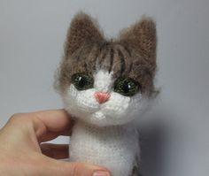 I want this for my baby   Grey+Cat++pdf+crochet+toy+pattern++NEW+by+mashutkalu+on+Etsy,+$6.00
