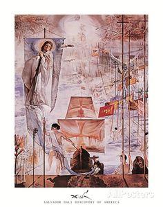 Die Entdeckung Amerikas durch Christoph Kolumbus Kunstdrucke von Salvador Dalí bei AllPosters.de