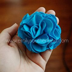 Emily's Little World: How To Make A T-Shirt Fabric Flower: Tutorial Time!