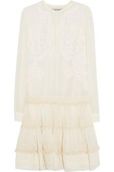 Etro|Embroidered cotton and silk-blend mini dress|NET-A-PORTER.COM