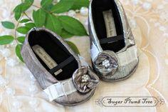 Silver baby shoes sugar-plumb-tree-shoes