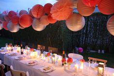 Lampions pour table de fête