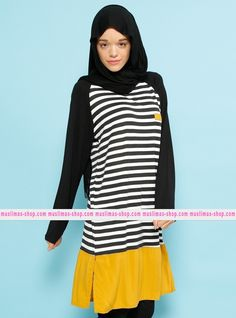 Le nostra offerta #vestitoislamico per la donna #musulmana  Stripe Tunic - Benin - Fabric Info:  73% Cotton  23% Polyester  4% Lycra - SKU:  223389. Buy now at http://www.muslimas-shop.com/stripe-tunic-benin.html
