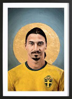 Football Icon - Ibrahimovic 2016 - David Diehl - Affiche premium encadrée