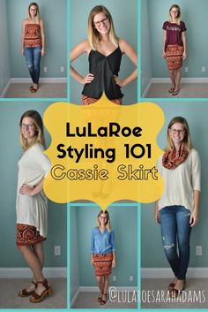 LuLaRoe Styling 101: The Cassie Skirt // How to Style Your LuLaRoe Cassie Skirt // Shop LuLaRoe Sarah Adams: facebook.com/groups/llrsarahadams