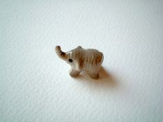 Little Grey Ceramic Elephant by iammie, $6.00.............reminds me of Despicable Me
