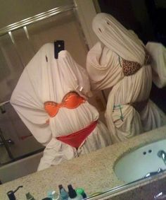 slutty ghosts for halloween. im actually dying right now this is so funny.