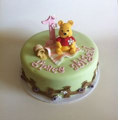 Winnie the Pooh cake for baby Grace's first birthday
