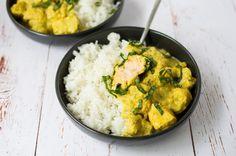 Curry au saumon facile et rapide