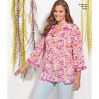 Simplicity 1461 Sewing Pattern Tunic Misses 10-18 Woman's 20W-28W Cup B,C,D,DD Act Quickley #dc #bc #bd