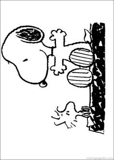 snoopy coloring pages 23