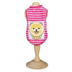 Camiseta para Cachorro Listras Rosa Joy Art - MeuAmigoPet.com.br #petshop #cachorro #cão #meuamigopet