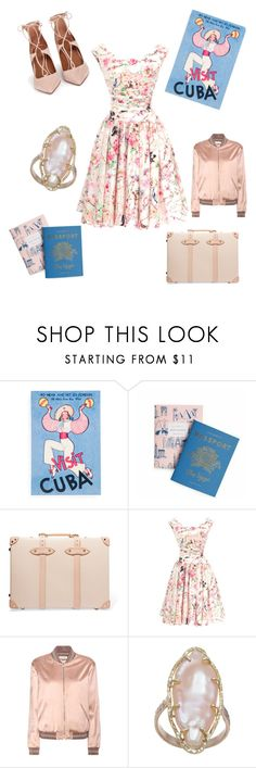 """""""Camilla"""" by giannilachica ❤ liked on Polyvore featuring Rifle Paper Co, Globe-Trotter, Unique Vintage, Yves Saint Laurent, Aquazzura, vintage, saintlaurent, globetrotter and uniquevintage"""