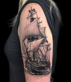 "528 Likes, 19 Comments - MARTIN TRAN (@tattooxtran) on Instagram: ""The Eglinton shop didn't have a white wall for me to use for the backdrop . Here's a ship I'm…"""