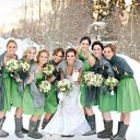 Gorgeous Snowy Christmas Wedding, I love the boots with the dress:))