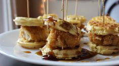 How to Make Epic Chicken and Waffle Sliders Game Night Food, Current Week, Party Sandwiches, Chicken And Waffles, Brunch Ideas, Sweet Sweet, Sliders, New Recipes, Shower Ideas