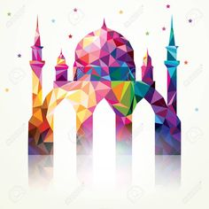 124 best top 2018 greeting card ideas design your wishes images on best greeting card images ramadan kareem colourful triangle mosque m4hsunfo