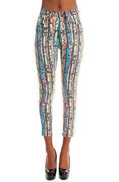 The Rib Warmers Hi-Waisted Ankle Skinny Jean in Bombay Rock by Ziggy