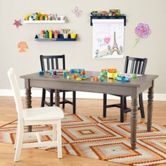 Adjustable Height Everlasting Play Table (Grey) via @The Land of Nod