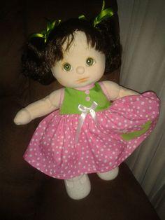 My Child Doll - Brunette/Green