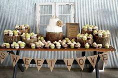 Rustic Wedding Cake Table Decorations | Wedding Ideas