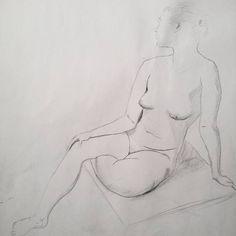 #art #sketch #skething #nude #drawing #draw #обнаженка #наброски #рисование #рисунок #figure Модель Надя
