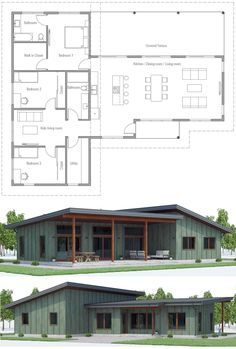 Floor Plans, Home Plans, House Plans Barn House Plans, New House Plans, Cabin Plans, Small House Plans, House Floor Plans, The Plan, How To Plan, Farmhouse Layout, Casas Containers
