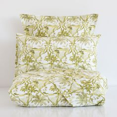 GREEN PALM TREE BED LINEN