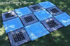 Make your own super VERSATILE bandana quilt!  Made in less than an hour for less than 12 bucks!