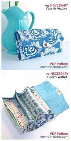 The Necessary Clutch Wallet Sewing Pattern: A Large wallet with card slots and…  #RePin by AT Social Media Marketing - Pinterest Marketing Specialists ATSocialMedia.co.uk