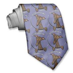 Dark Brindle Greyhound IAAM Tie
