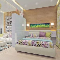 Trendy Exterior Home Design Small Decor Ideas Studio Apartment Design, Studio Apartment Decorating, Studio Design, Interior Decorating Tips, Decorating Small Spaces, Trendy Bedroom, Modern Bedroom, Bedroom Girls, Bedroom Layouts