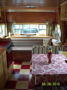 RV/Trailer Makeover: I kind of like the hodgepodge of materials used, like they found a bunch in their garage or something.