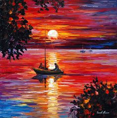 NIGHT FISHING - Oil painting by Leonid Afremov. One day offer - $89 include international shipping https://afremov.com/NIGHT-FISHING-PALETTE-KNIFE-Oil-Painting-On-Canvas-By-Leonid-Afremov-Size-24-x24-60cm-x-60cm.html?bid=1&partner=20921&utm_medium=/offer&utm_campaign=v-ADD-YOUR&utm_source=s-offer