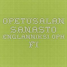 Opetusalan sanasto englanniksi OPH.fi
