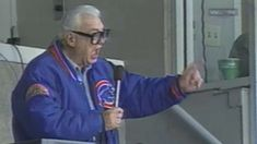 (Song of the day Aug 27 Harry Caray and Cubs fans - Take Me Out to the Ballgame. Baseball songs week - or sports songs, if I can't come up with 7 baseball songs. Here's the appropriate song for this evening! The song tonight was led by Bob Odenkirk. Angel 11, Cubs Games, Inspiration For The Day, Cubs Win, Basketball Tickets, Go Cubs Go, The Mike, Folk Festival, Wrigley Field