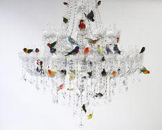 Designer-Licht von Sebastian Errazuriz - Kronleuchter mit Ziervögeln | Smart…